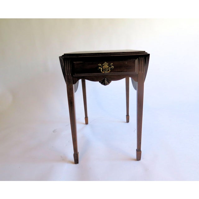 Chippendale Chippendale Style Diminutive Pembroke Table For Sale - Image 3 of 5