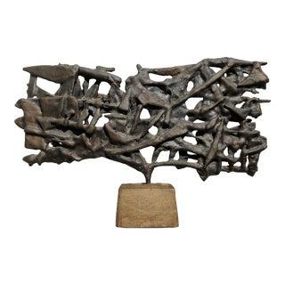 1960's Mid-Century Bronze Brutalist Sculpture