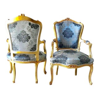 1960s Vintage French Louis XVI Style Chairs- A Pair For Sale