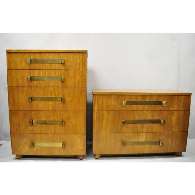 John Stuart Mid Century Modern Art Deco Birch Dresser For Sale - Image 9 of 13