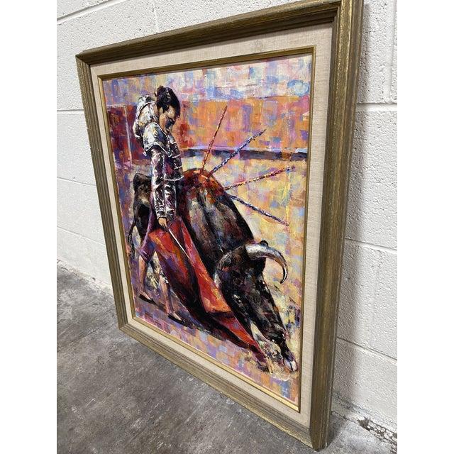 Epifanio Ortega Original Matador Painting For Sale - Image 4 of 13