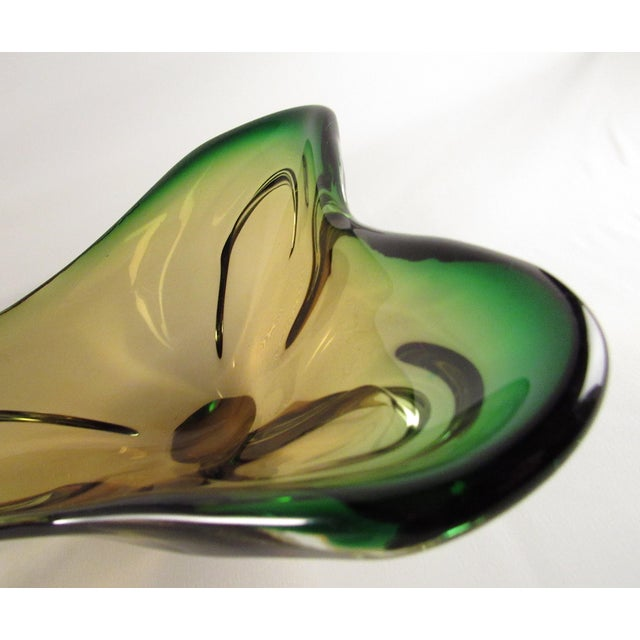 Italian Mid-Century Murano Glass Centerpiece Bowl For Sale - Image 3 of 10