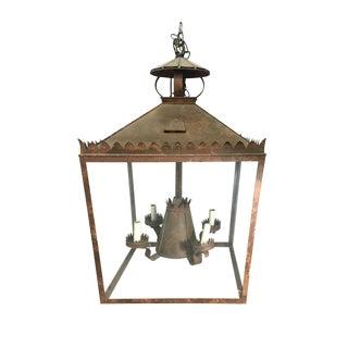 Vintage Tole Bronze Lantern