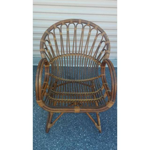 Vintage Franco Albini Rattan Loveseat and Chair - a Pair For Sale In Tampa - Image 6 of 13