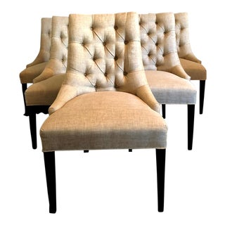 Designmaster Furniture Saybrook Tufted Dining Side Chairs - Set of 6 For Sale