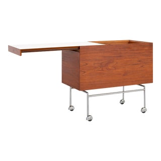 Poul Norreklit Rosewood Bar Cart For Sale