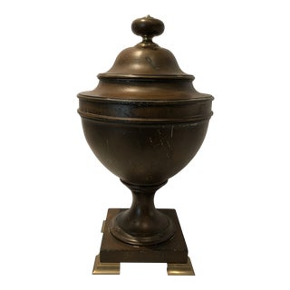 Handsome Wooden Urn by Chapman For Sale