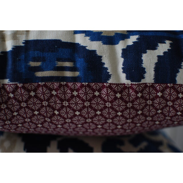 Custom Blue Ikat Pillows - A Pair - Image 7 of 7