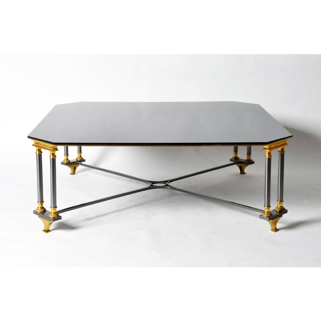 Hollywood Regency 1960s Hollywood Regency Maison Jansen Style Low Table For Sale - Image 3 of 10