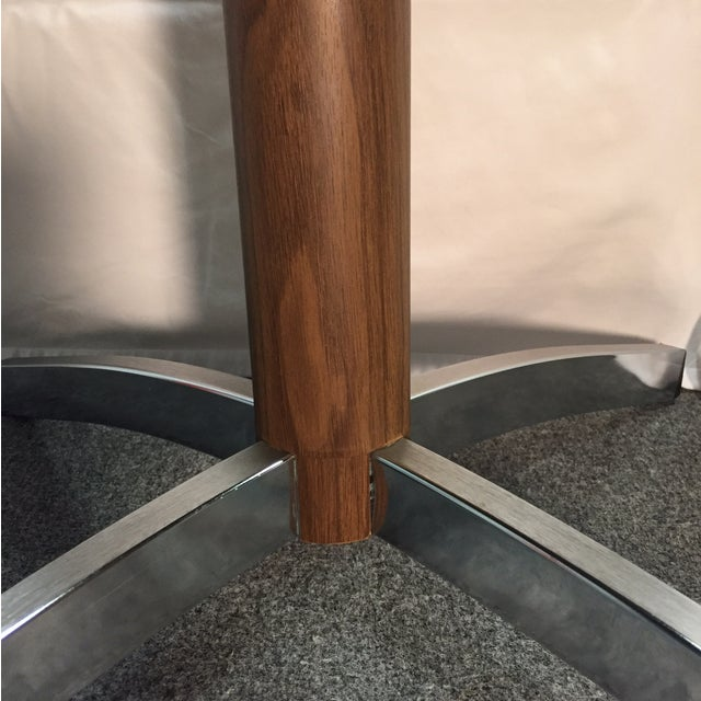 MCM Gusdorf Wood Grain TV Stand with Chrome Feet For Sale - Image 4 of 7