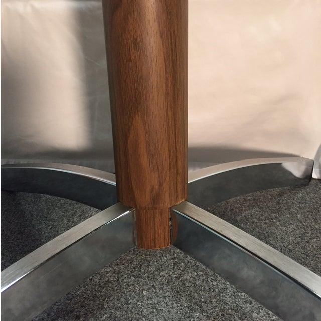 MCM Gusdorf Wood Grain TV Stand with Chrome Feet - Image 4 of 7
