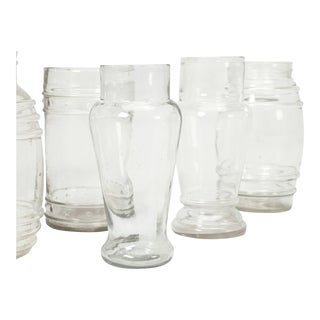 Vintage Collection of French Glass Jars - 9 Pieces