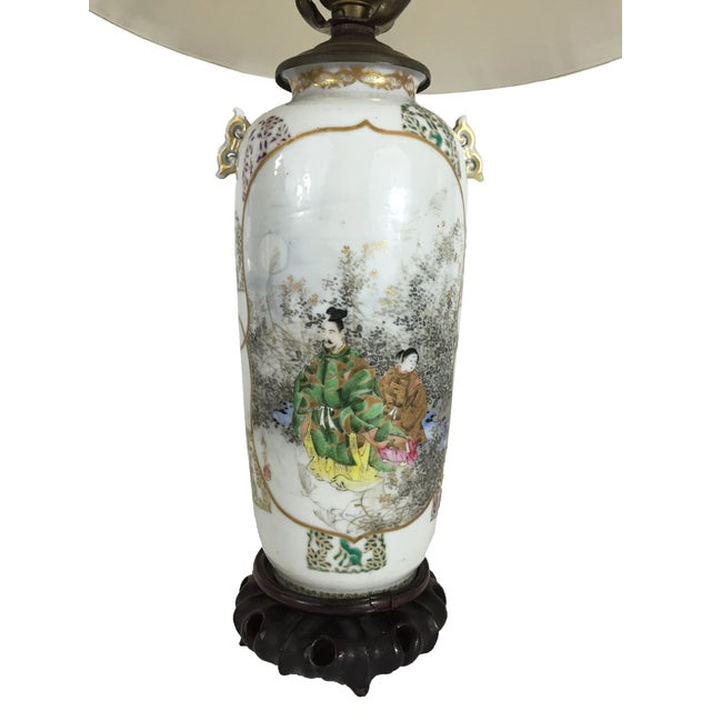 Fine Antique Japanese Porcelain Vase Mounted as a Lamp For Sale - Image 4 of 6