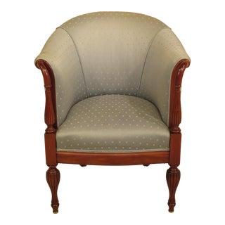 Sheraton Style Mahogany Club Chair