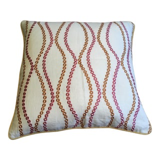 Pink and Orange Wave Pillow