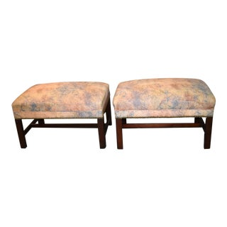 Vintage Traditional Style Benches - a Pair For Sale