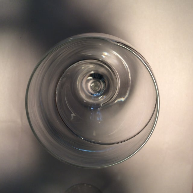 Vintage Silver Swirl Crystal Glasses - Set of 6 For Sale In Sacramento - Image 6 of 11