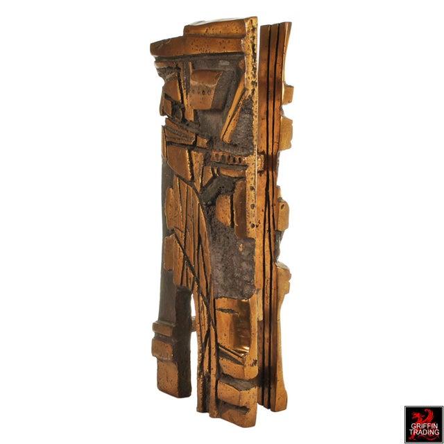 Bronze Bronze Brutalist Abstract Sculpture For Sale - Image 7 of 13