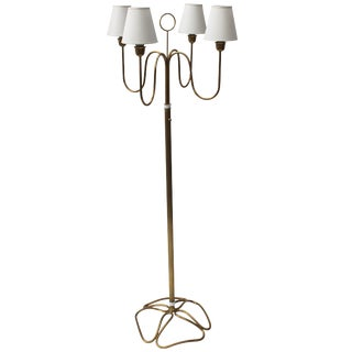 Brass Floor Lamp by Gino Sarfatti for Arteluce For Sale