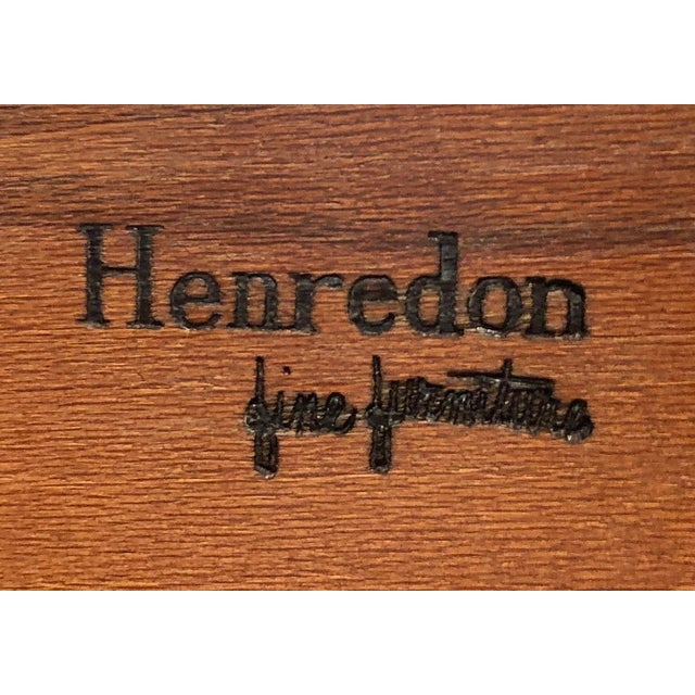 Henredon Chippendale Double Bonnet Top Yew Wood Secretary For Sale - Image 12 of 13