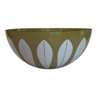 Large Yellow Cathrineholm Lotus Bowl For Sale