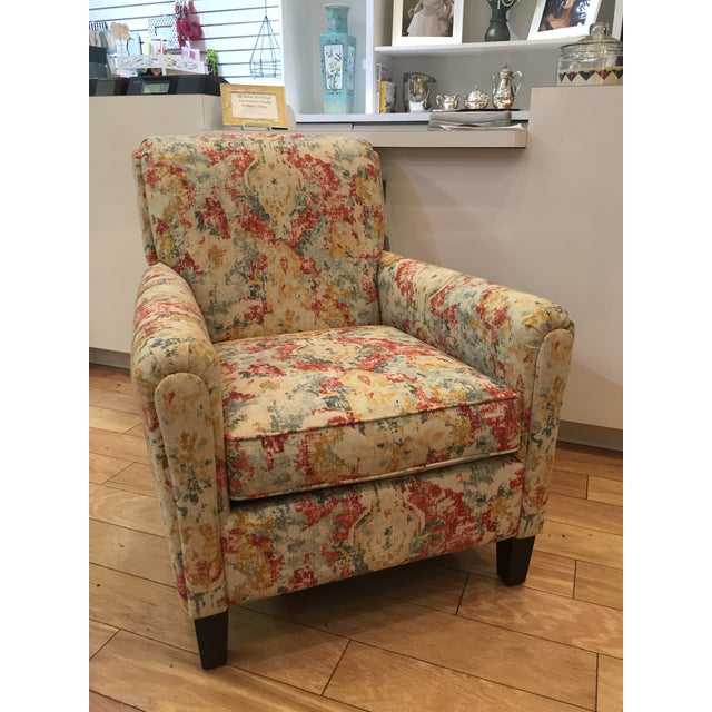 Fabric Vintage Modern Bassett Ridgebury Accent Chair For Sale - Image 7 of 7