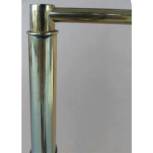 Koch & Lowy Brass Swing Arm Floor Lamp - Image 9 of 11