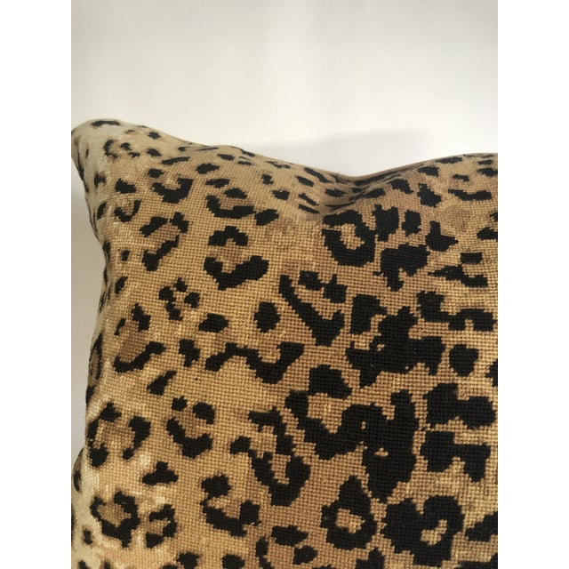 Black Boho Chic The Big Leopard Pillow For Sale - Image 8 of 9