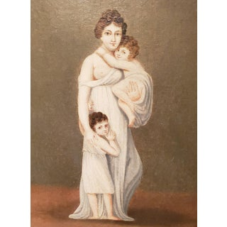 1800s Neoclassic Oil Painting on Canvas For Sale