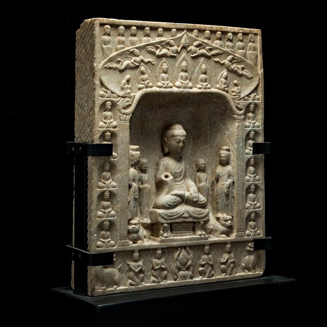 Northern Qi Buddhist Stele For Sale - Image 4 of 4