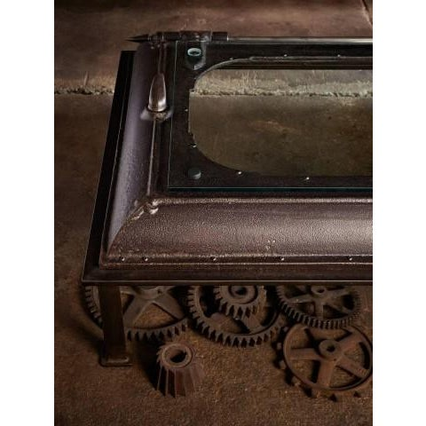 Cast Iron, Boiler Room Door Turned Coffee Table - Image 2 of 4