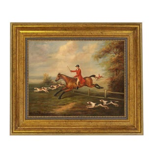 J.N. Sartorius Fox Hunting Scene Reproduction Oil Painting For Sale