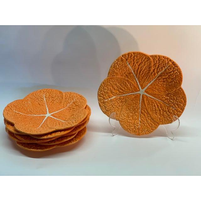 Set of 12 Lettuce Ceramic Plates from Portugal Unique Handmade Colorful Elegant Manufacturer: Faiobidos Portugal