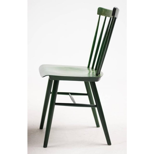 Traditional Set of Four Ilmari Tapiovaara Spindle Back Chairs and Table For Sale - Image 3 of 9