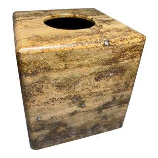 Waterstone Dark Travertine Tissue Box Cover Holder For Sale