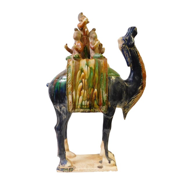 Chinese Pottery Clay Ancient Style Camel Figure For Sale