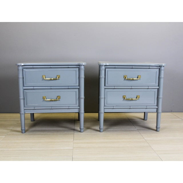 Vintage Palm Beach Style Nightstands - A Pair - Image 4 of 11