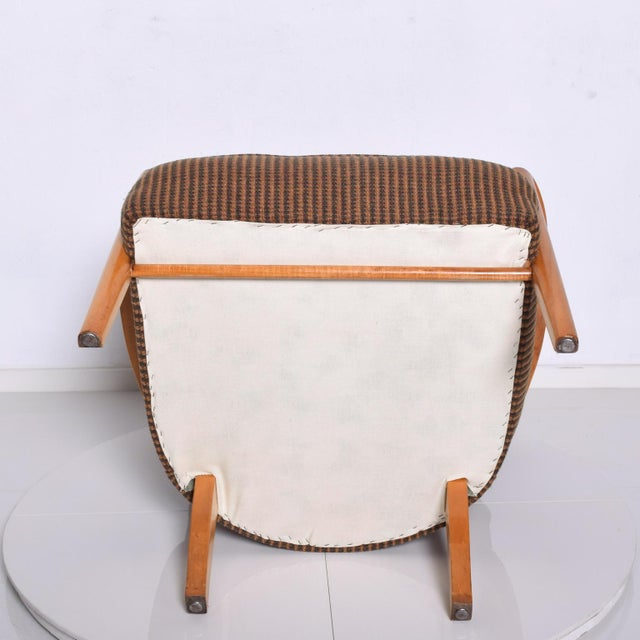 Heywood-Wakefield 1950s Mid Century Modern Heywood Wakefield Maple Lounge Chair For Sale - Image 4 of 12
