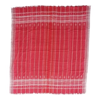 Neutral Hand Woven Wool Bed Cover Drapery For Sale