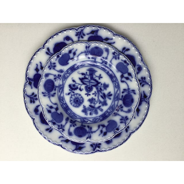 """Jonson Bros England """"Holland"""" Flow Blue Plates - a Pair For Sale - Image 11 of 13"""