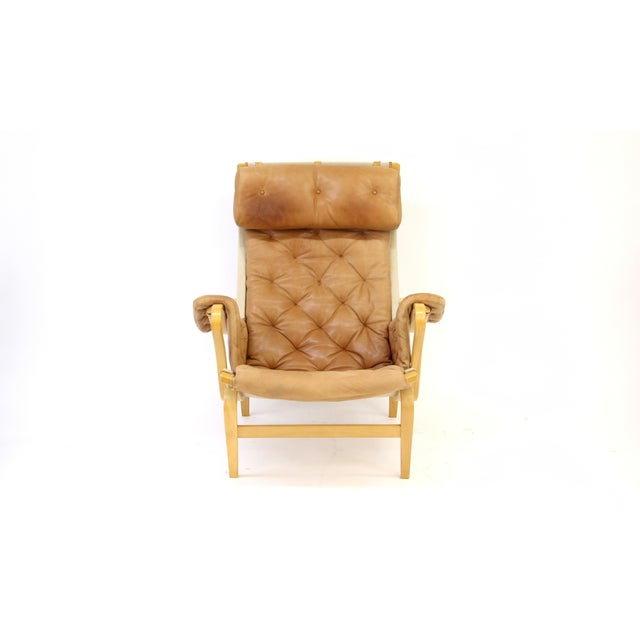 Contemporary Bruno Mathsson Dux of Sweden Pernilla Chair & Ottoman f For Sale - Image 3 of 10