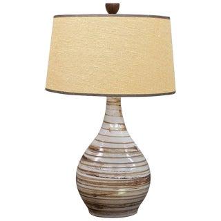 Martz Model No. 101 Swirl Glazed Teardrop Pottery Table Lamp Marshall Studios For Sale