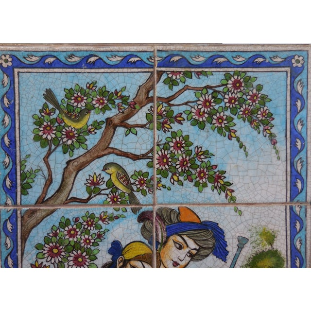 Vintage Persian Tile Coffee Table - Image 4 of 11