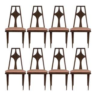Set of 8 Edmond J. Spence Dining Chairs Scandinavian Mid-Century Modern, 1960s For Sale
