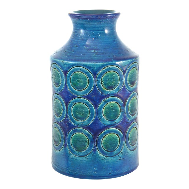 Bitossi Mid-Century Blue Vase For Sale