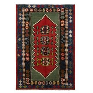 """1940's Vintage Konya Design Kilim Rug-4'7'x6'5"""" For Sale"""