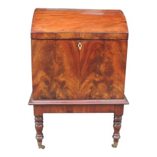 Late 18th C English Dome Top Cellarette For Sale