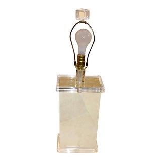 Richard Lindley Faux Painted Parchment Lamp For Sale