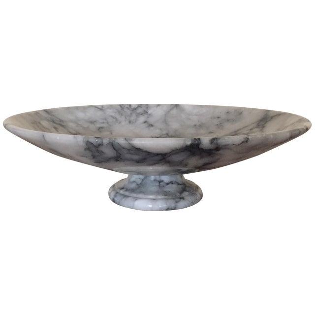 Vintage Marble Pedestal Bowl For Sale