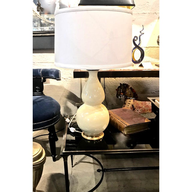 Light Yellow 2002 Early Christopher Spitzmiller Signed and Dated Lamp For Sale - Image 8 of 9